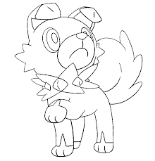 Small Picture Coloring page Pokemon Sun and Moon Rockruff 12
