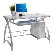 modern glass house modern white glass top computer desk
