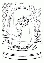 beauty beast rose coloring pages print colouring pages 940x1329 gif 940 1329