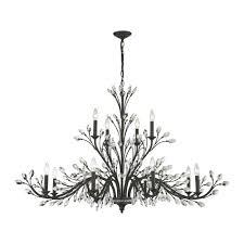 titan lighting crystal branches 12 light burnt bronze chandelier