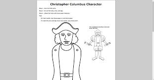 Free Christopher Columbus Paper Doll Printable