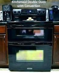 kitchenaid double convection wall oven microwave combo new throughout