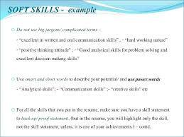 Soft Skills For Resume Extraordinary Soft Skills Resume Generalresumeorg