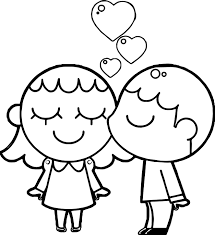 Small Picture Best Friends Boy And Girl Coloring Page Wecoloringpage