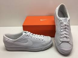 nike all court low leather tennis cross training white sneakers shoes mens 11 5 for