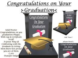 Second Life Marketplace Congratulations On Your Graduation Pewter