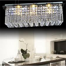 modern k9 rectangle led crystal chandelier balcony lamp aisle lights ceiling light pendant lamps fitting for hallway bedroom led lighting dining chandelier