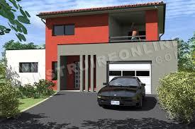 Beautiful Plan De Maison Etage Moderne PASSIFLORE Vue Garage ...