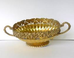 Long Decorative Bowl Long brass bowl Etsy 53