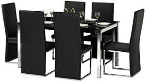 amazon uk dining room chairs. julian bowen tempo glass dining table set with 6 chairs, black: amazon.co.uk: kitchen \u0026 home amazon uk room chairs n