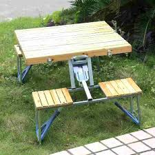 picnic chairs with side table camping dining time chair