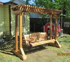 Small Picture Outdoor Swing Frames Hand made cedar porch swings Adirondack