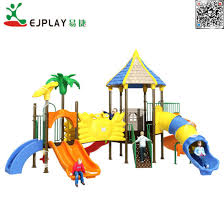 outdoor playground equipment with castel series multiple large kids slide game for children