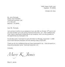 Offer Letter Acceptance Mail Format Job Offer Acceptance Letter Template Job Offer Acceptance