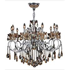 worldwide lighting kronos 10 light chrome with amber crystal large chandelier