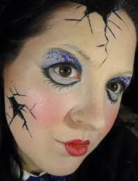 ed porcelain doll makeup for haunted house
