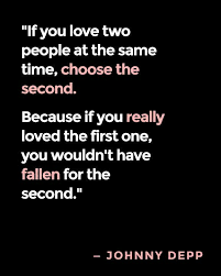 Second Love Quotes Unique Depp Quote Second Love Quotes