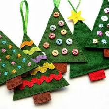 How To: Felt Christmas Tree Ornaments Time for another festive tutorial:  how to make simple felt Christmas tree decorations. These ornaments are  quick and