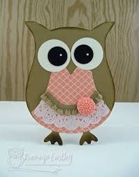 in colour owl by bronj cards and paper crafts at splitcoaststers