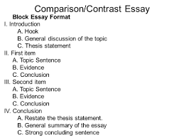Outline Of Compare And Contrast Essay How To Write A Comparison And Contrast Essay Outline