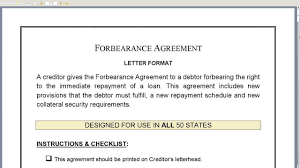 Forbearance Agreement Template Forbearance Agreement YouTube 18