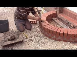 to build a curved brick step