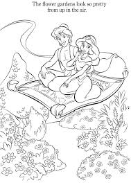 Aladdin And Jasmine Colouring Pages Spring Edition Disegni