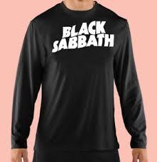 Details About Long Sleeve Tee Concert Classic Rock Music Black Sabbath Gildan 100 Cotton