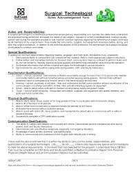 Orthopedicgical Tech Resume Awesome Samples Resumes Sample Of