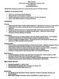 Security Guard Resume Objective - Free Letter Templates Online ...