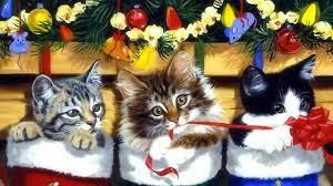 Black Cat Christmas Computer Wallpaper ...