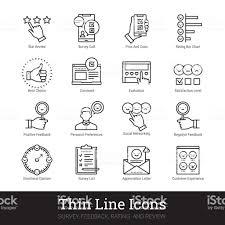 調査フィードバック評価レビュー線形アイコンベクトル イラスト クリップ