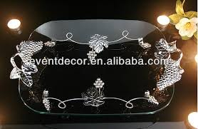 Decorative Glass Trays Wholesale Food Serving Trays Decorative Glass Tray With Metal 25