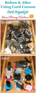 How to organize a drawer full of cords and cables using a cord organizer,  ...