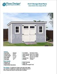 Home Garden Design Plan Delectable 48' X 48' Garden Storage Modern Roof Style Shed Plans Etsy
