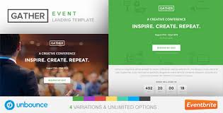 Event Website Template Stunning Unbounce Event Landing Page Template Gather By Surjithctly