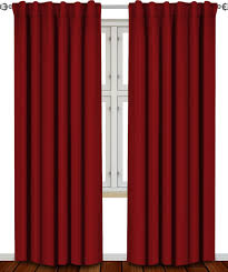 com blackout room darkening curtains window panel ds burdy color 2 panel set 52 inch wide by 84 inch long each panel 7 back loops per