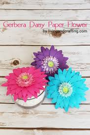 Daisy Paper Flower Diy Gerbera Daisy Paper Flower Living And Crafting