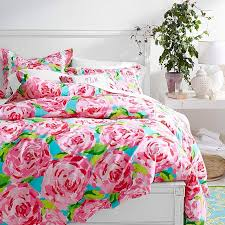 lilly pulitzer sister fls duvet sham in first impression hotty pink i want this for my room at home