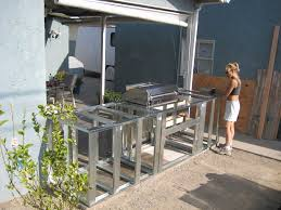 outdoor grill island plans steel
