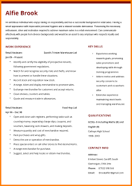 8 Good Cv Examples For Retail Quick Askips