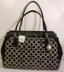 ... COACH 25624 sbwbk Black White Purse Silver Hardware NEW Handbag Op Art  Kim Cryal Coach