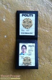 Series Danish The Police Credentials Killing Replica forbrydelsen Prop Tv