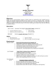 Bartender Resume Objective Free Resume