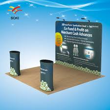Display Stands For Pictures 100ft x100ft Straight Exhibition Booth Pop Up Display Stands For Trade 71