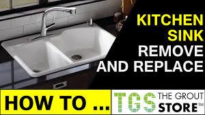 Replace Undermount Kitchen Sink Granite Countertop Kitchen
