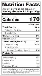 get nutritional info