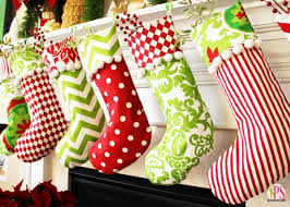 christmas stockings decorating ideas. From pom-poms to stripes, colorful  Christmas stockings are a great addition to any