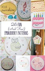 Embroidery Patterns Free Magnificent 48 Fun And Free Embroidery Patterns