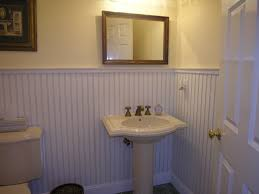 wainscoting in bathroom stained wainscoting